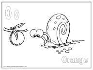 Alphabet Coloring Page - O