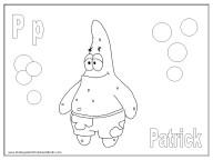 Alphabet Coloring Page - P