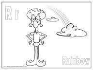 Alphabet Coloring Pages - R