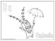 Alphabet Coloring Pages - U