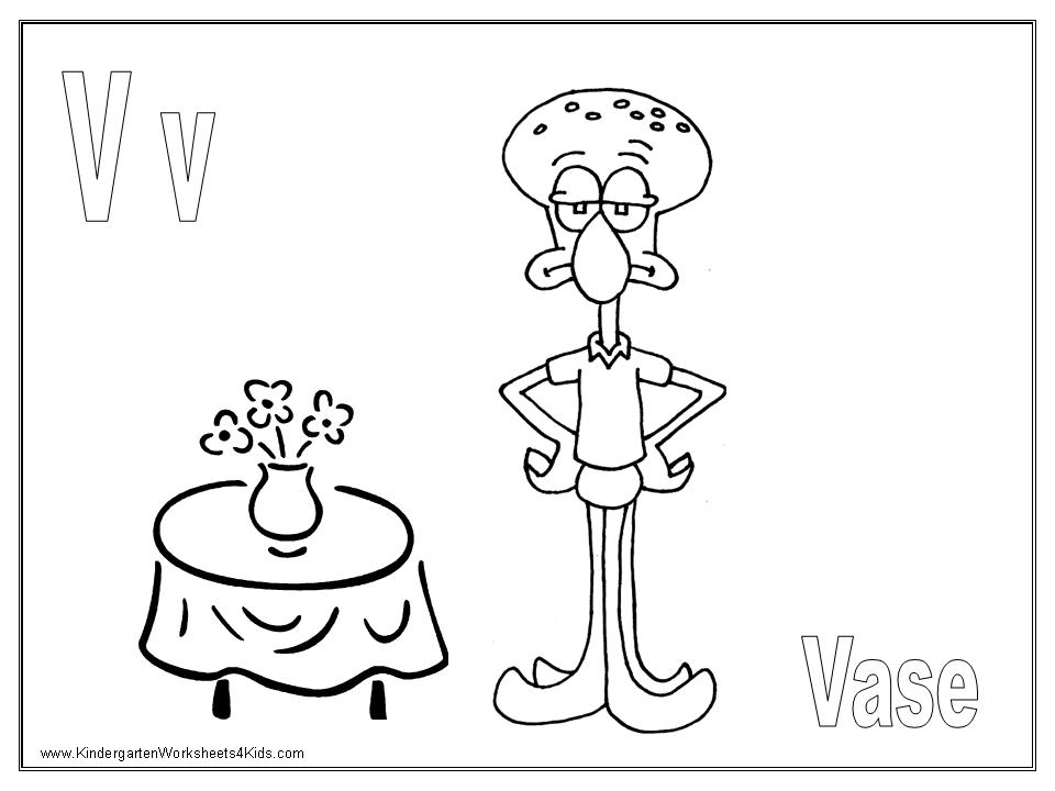 Letter V Coloring Pages Worksheets and Color Posters