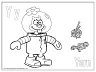 Alphabet Coloring Pages - Y