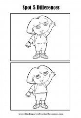 Spot the Difference – Dora the Explorer