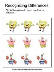 Spot the Differences with Spongebob