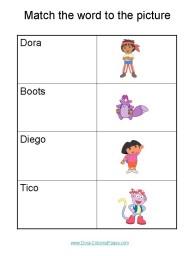 Dora worksheet