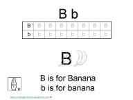 Kindergarten worksheets- letter B