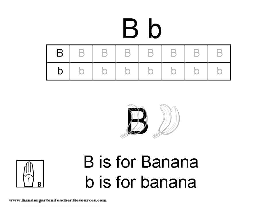 Letter B Worksheets - 32+ Letter B Worksheets For Kindergarten Background