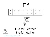 Kindergarten worksheets- letter F
