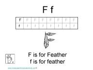 Kindergarten worksheets- letter F