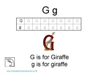 Kindergarten worksheets- letter G