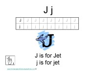 Kindergarten Worksheets - Letter J