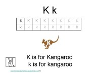 Kindergarten Worksheets - Letter K