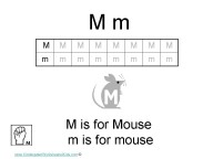 Kindergarten Worksheets - Letter M