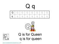 Kindergarten Worksheets - Letter Q