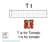 Kindergarten Worksheets - Letter T
