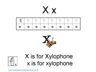 Kindergarten Worksheets - Letter X
