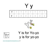Kindergarten Worksheets - Letter Y