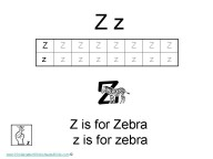 Kindergarten Worksheets - Letter Z