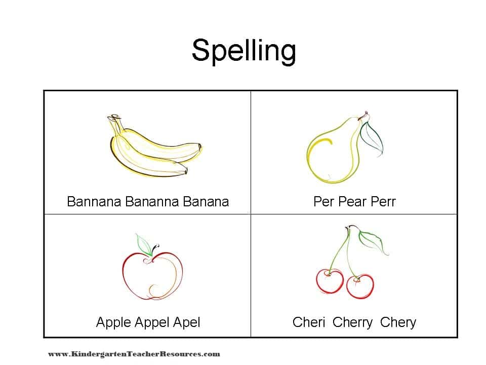 pre school or preschool spelling spelling worksheets with fruit 704