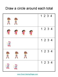 Dora the Explorer Number Worksheets