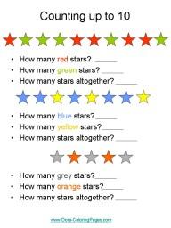math kindergarten worksheets