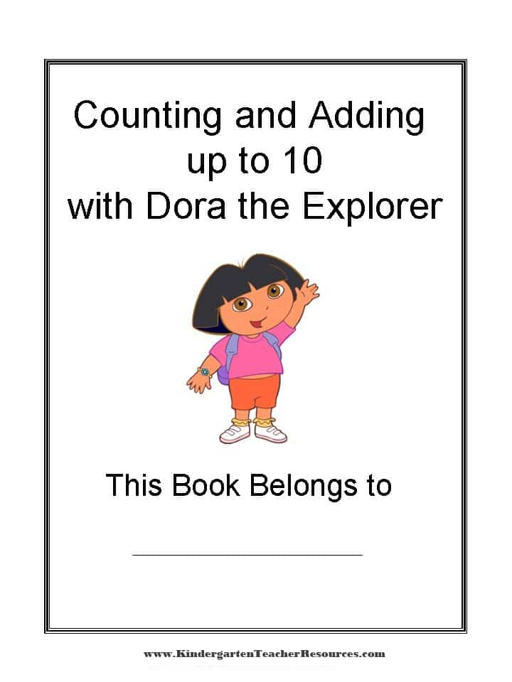 Kindergarten Dora Worksheets