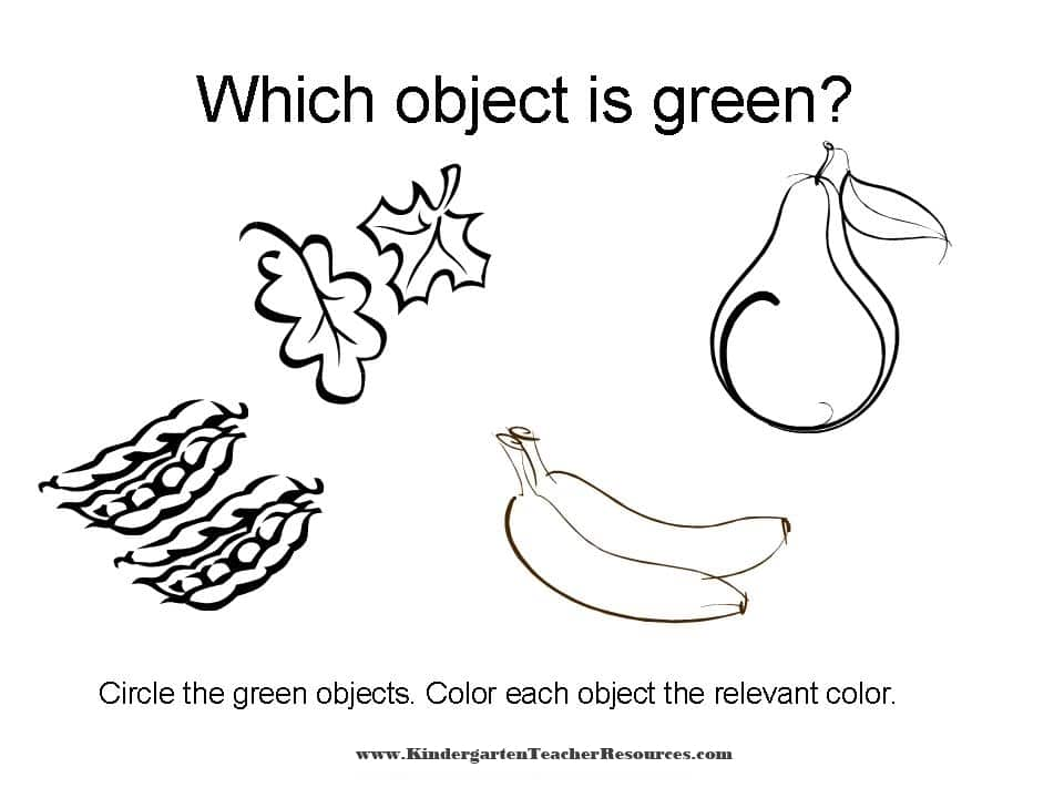 Color Worksheets Identifying Colors. Kindergarten Worksheet. Worksheet. Color Green Worksheets At Clickcart.co