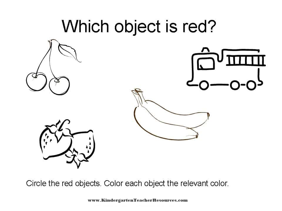 red coloring pages for preschool - photo#21