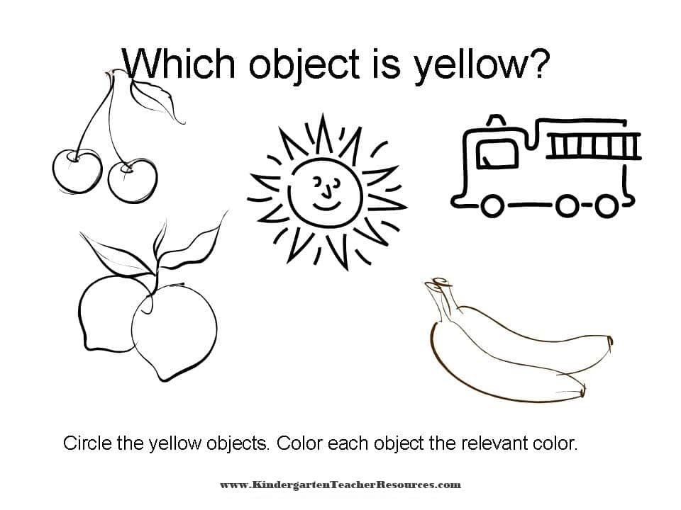 Color Worksheets Identifying Colors. Worksheets To Learn Colors. Worksheet. Color Yellow Worksheets At Clickcart.co