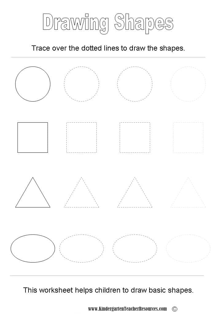 Basic Shapes Worksheets
