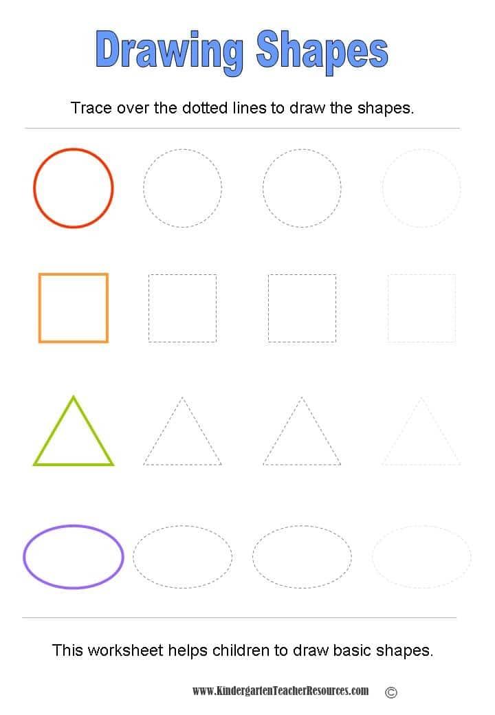 Kindergarten Worksheets shapes for kindergarten worksheets : Basic Shapes Worksheets