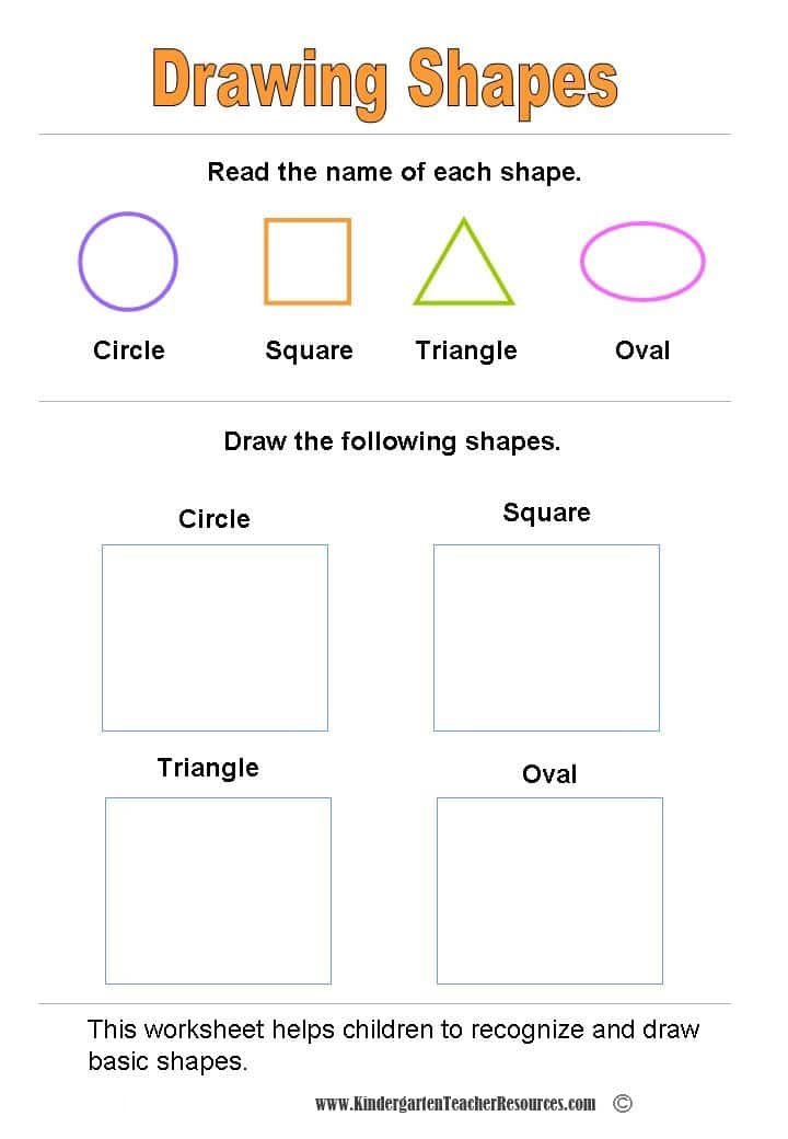 Matching Shapes Worksheets For Kindergarten Tattoos