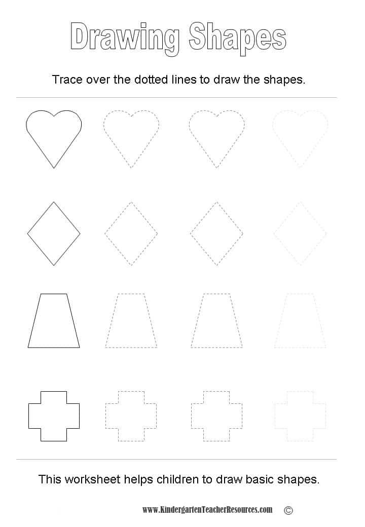 Shape Worksheets – Kindergarten Drawing Worksheets