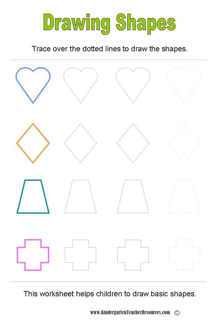 Drawing Lines Worksheet Ks : Shape worksheets