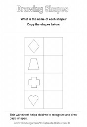 worsheets to learn shapes