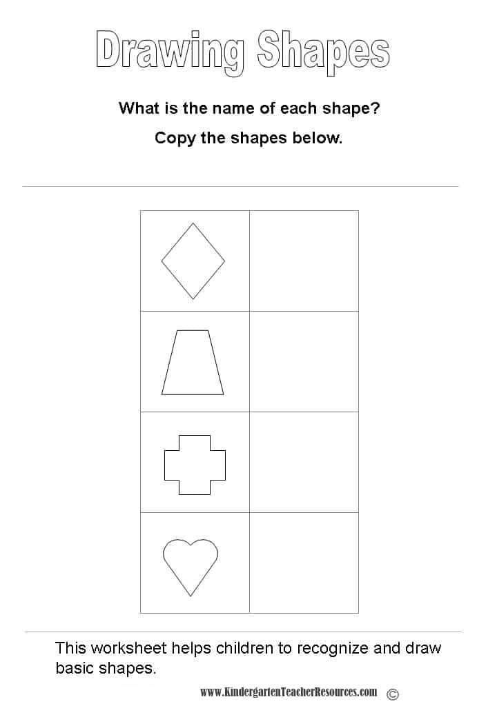 Trapezoid Worksheets For Kindergarten submited images.