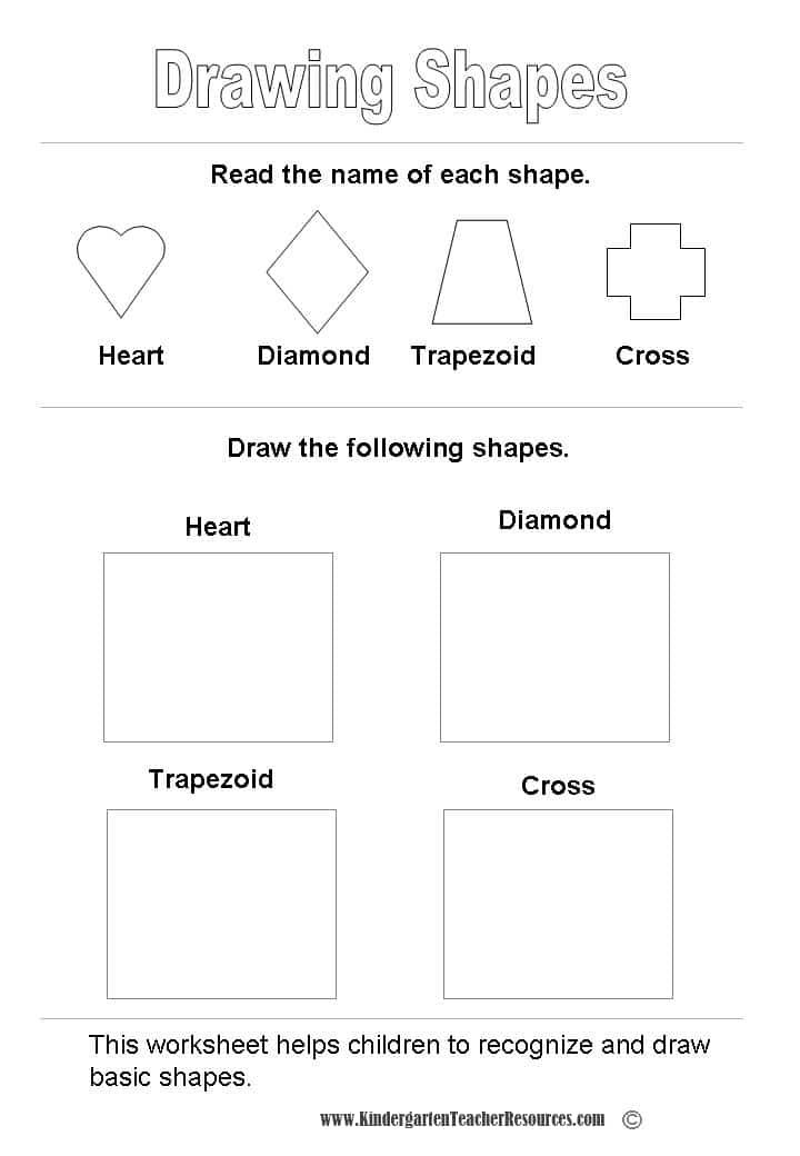 shape worksheets. Black Bedroom Furniture Sets. Home Design Ideas