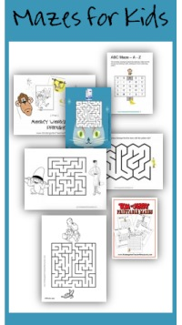 Printable mazes for kids