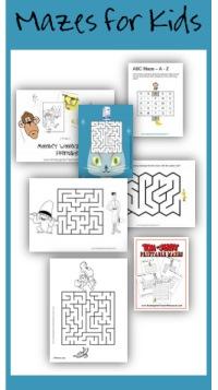 Printable mazes for kids