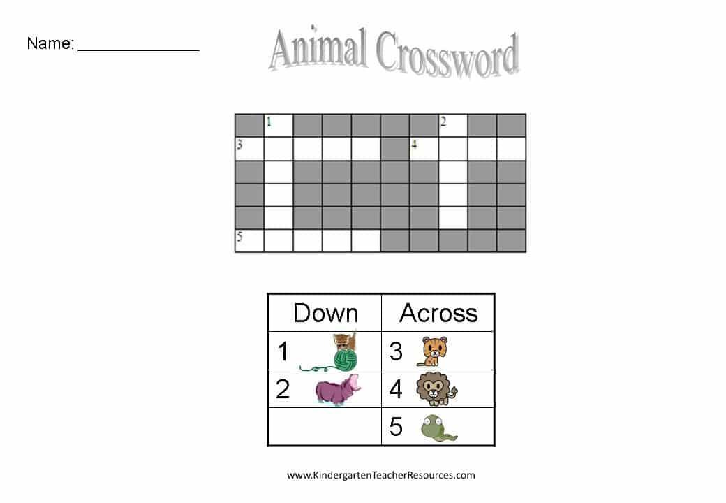 Free Easy Crossword Puzzles