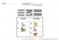 printable crosswords for kids
