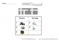 free printable crosswords for kids
