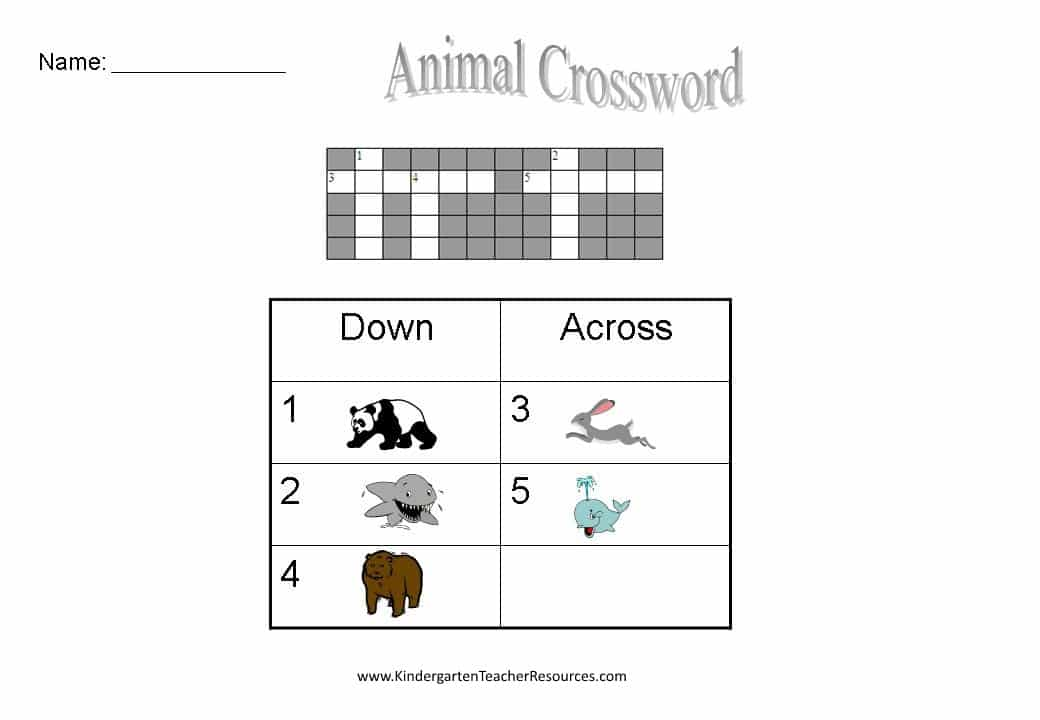 photo about Easy Crossword Puzzles Printable named No cost Basic Crossword Puzzles