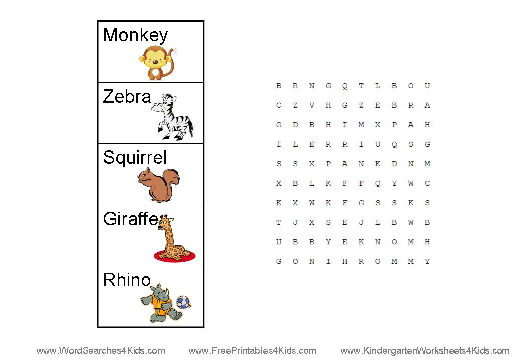 preschool word search ⋆ Kindergarten Teacher Resources