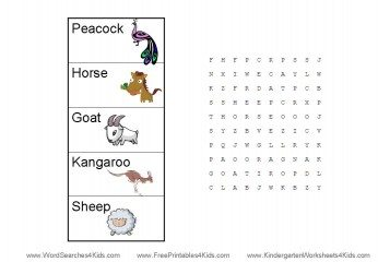 word search worksheets