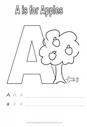 Handwriting worksheet - letter A