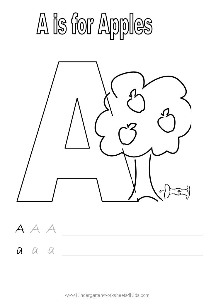 A Worksheets For Kindergarten Yourhelpfulelf – Letter a Worksheets for Preschool