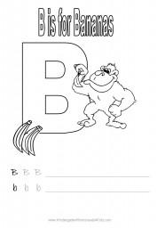 Handwriting worksheet - letter B