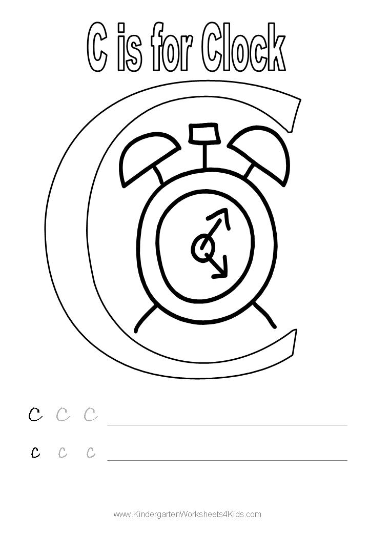 free letter c worksheet coloring pages