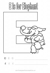 Handwriting worksheet - letter E